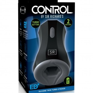 Control Silicone Twin Turbo Stroker By Sir Richards