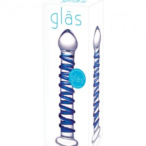 glas-blue-spiral-glass-dildo-7in