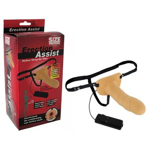Erection Assist Vibrating Hollow Strap-On Flesh