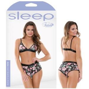 Sleep Aloha Mesh Bralette & Shortie