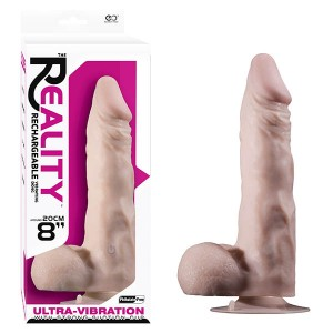 """Realistic No 1 Rechargeable Vibrating Dong 8"""" Flesh"""