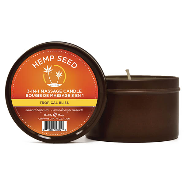 Hemp Seed 3-In-1 Tropical Bliss - Massage Candle