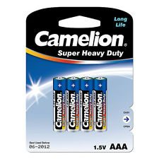 AAA Camelion Super Heavy Duty Battery 4 Pack
