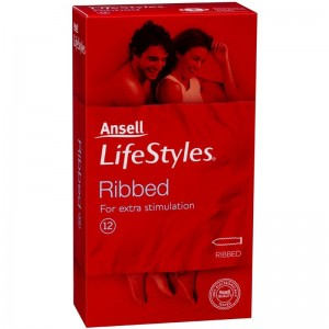 Ansell Condoms Lifestyles Ribbed 12 Pack - also aviable online and in store is massage oils and persona lubricants online.