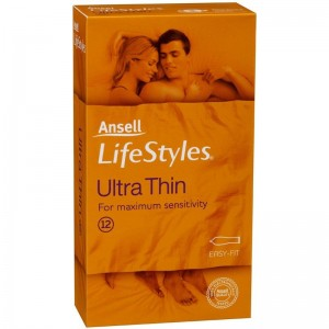 Ansell Condoms Lifestyles Ultra Thin 12 Pack - see also adult games and couples kits for a greatr night in with adult toy products.