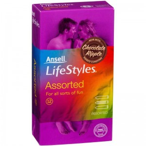 Ansell Lifestyles Condoms Assorted 12 Pack - see also sex toy for women including vibrating bullets and rechargeable swan rabbits.