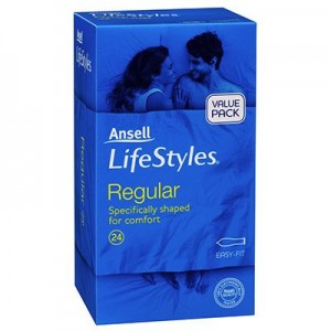Ansell Lifestyles Condoms Regular 24 Pack - get all your delay sprays and erection creams at the one great adult toy store online.