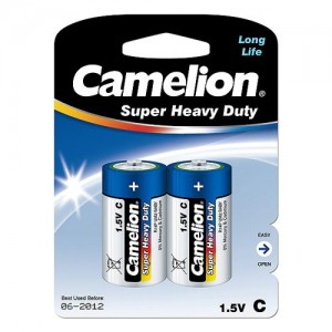 C Super Heavy Duty Batteries 2 Pack Camelion