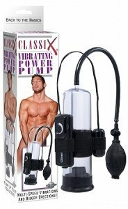 Classix Vibrating Power Pump in Black