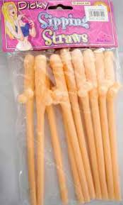 Dicky sipping Straws - we have all your sex toys and vibrator gift ideas covered for the bride to be.