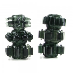 Doc Johnson Tower of Power Cock Ring Collection Black