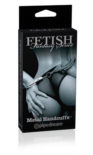 Fetish Fantasy Series Limited Edition Metal Handcuffs - see also floggers and bondage gear kits for couples.