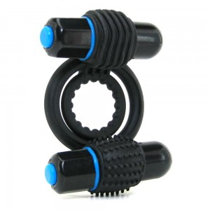 Optimale Vibrating Double C-Ring SLATE - also availale online and in store is bondage toys and couples sex toy kits.