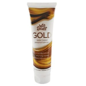 Wet Stuff Gold 100g Tube - purchase cheap lubes and dildos online with us - personal lubricants at lowest prices.