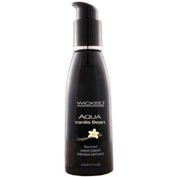 Wicked Aqua Vanilla Bean Flavored Lubricant 120mL - see also flavoured lubes and condoms - cheap adult toy products.