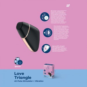 Satisfyer Love Triangle App Control - Black