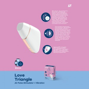 Satisfyer Love Triangle App Control - White