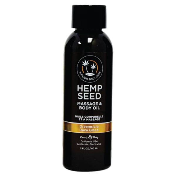 Hemp Seed Massage & Body Oil-Tangerine & Plum- 59 ml Bottle