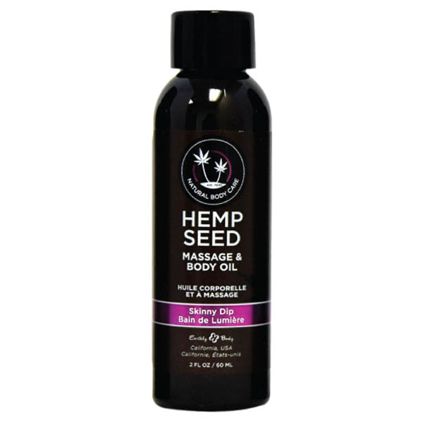 Hemp Seed Massage & Body Oil-Vanilla & Faiy Floss- 59 ml Bottle