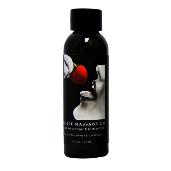 Edible Massage Oil - Strawberry 59ml