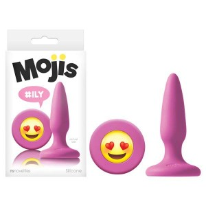 Moji's #ILY Tapered Silicone Butt Plug Pink