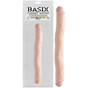 "Basix Rubber Works 12"" Double Dong - Flesh"