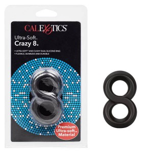 Ultra-Soft Crazy 8 Ring - Black