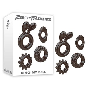 Zero Tolerance Ring My Bell Cock Rings - Set of 4